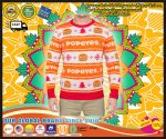 Popeyes Ugly Christmas Sweater