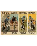 Poster Cycling be badass everyday