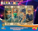 Female physicians nurse be strong be brave be humble be badass poster1