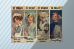 Nurse be strong be brave be humble badass poster8