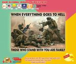 Poster Veteran when everything goes to hell those who stand with you are family2