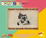 Snowmobiling you don't stop riding when you get old poster2