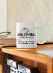 Abibliophobia definition the fear of running out of books to read mug9