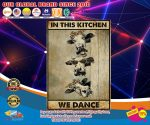 Cow In this kitchen we dance poster4