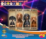 Dachshund be trong be brave be humble be badass poster4