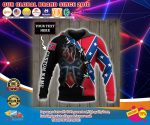 Deer Southern Confederate battle flag custom personalized name 3d over print hoodie4