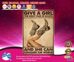 Give a girl the right pair of boots and she can conquer the worlf poster2