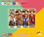 Poster Cowgirl be strong be brave be humble be badass2