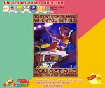 You get old when you stop drumming you dont's stop drumming when you get old poster2