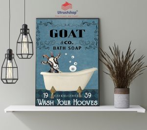 Goat and bath soap wash your hooves poster4