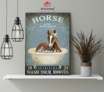 Horse and bath soap wash your hooves poster4