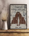 Snowmobile happiness is riding with you poster