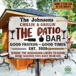 TongassF Personalized Grilling Patio Backyard Metal Sign