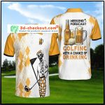 Skeleton Weekend Forecast Golfing With A Chance Of Dringking Polo Shirt