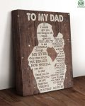 TongassF To My Dad How Special You Are To Me Wrapped Canvas Prints