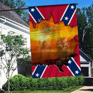 Southern Rebel Flag Image in past Flag