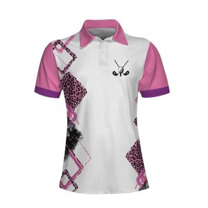 Golf With No Chance Of House Cleaning Or Cooking Short Sleeve Women Polo Shirt